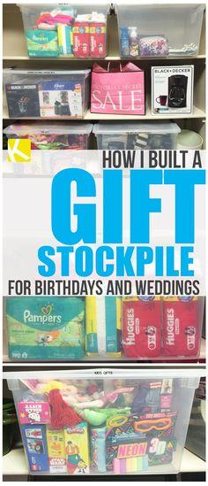How I Built My Gift Stockpile for Birthdays and Weddings