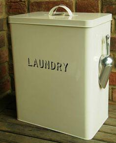 Laundry Tin Cream Large | eBay