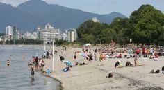 """Vancouver """"Kits"""" Beach is located on Cornwall Ave at the north end of Yew St. The Seawall runs along side the beach and Kitsilano Pool is at the west side. The beach offers a concession, Boathouse restaurant, washrooms, tennis courts, basketball courts, playground, swimming raft, summer lifeguards, and pay parking."""