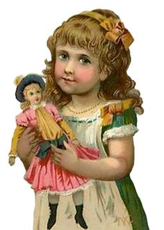 tube enfant. with a doll