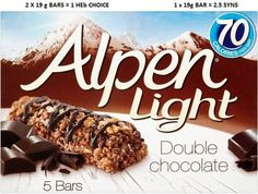 Alpen Light Bars Double Chocolate - Pack of 6 Breakfast Cereal Bar Recipe, Homemade Breakfast, Breakfast Bars, How To Make Breakfast, Amazon Auto, Chocolate Cereal, Hot Chocolate, Nutrition Bars