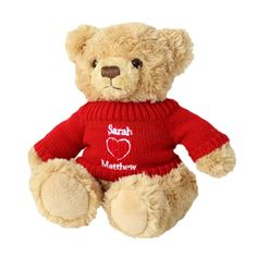 Personalised Love Heart Teddy Bear  from Personalised Gifts Shop - ONLY £16.95