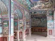 Bundi Palace interior, the colors are incredible~