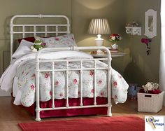 Available in the states, several antique iron beds to choose from in many different colors.