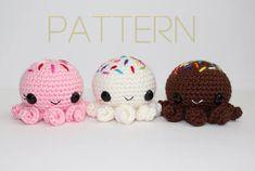 Amigurumi Octoscoop PATTERN Octopus/Ice Cream Scoop Crochet