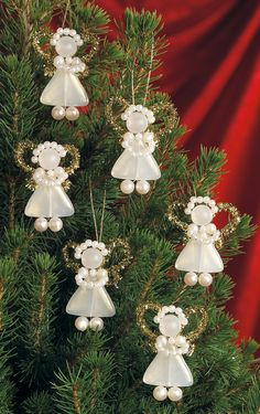 Beadery Kits | Bead Kits - Holiday Beaded Ornament Kit - White Pearl Precious Angels ...    Designed by Lori Pate-Greene