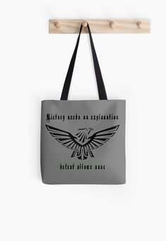 Warhammer 40k Black Eagle 2 • Millions of unique designs by independent artists. Find your thing. Redbubble Tote bags - #redbubble #bags #accessories #womens #style #casual Also available as T-Shirts & Hoodies, Men & Women Apparel, Stickers, iPhone Cases, Samsung Galaxy Cases, Posters etc. Large Bags, Small Bags, Samsung Galaxy Cases, Iphone Cases, Cotton Tote Bags, Reusable Tote Bags, Black Eagle, Medium Bags, Warhammer 40k
