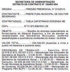 RN POLITICA EM DIA: PREFEITURA DE DOUTOR SEVERIANO GASTARÁ MAIS DE R$ ...