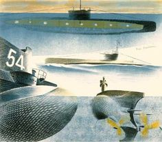 Ravilious, Eric - Different Aspects of Submarines: (1941)
