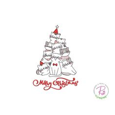 Christmas Tree Embroidery Design Machine Embroidery Merry Etsy In 2020 Christmas Tree Embroidery Design Machine Embroidery Christmas Machine Embroidery Cat