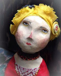 Frida. Original Clay Art Doll by LittleSageCreations