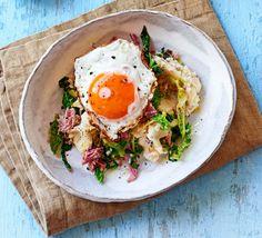 Ham hock colcannon from BBC Good Food Magazine, March 2017 Cabbage Recipes, Pork Recipes, Ham Hock Recipes, Egg Recipes, Tequila, Colcannon Recipe, Pork Hock, Pork Bacon, How To Cook Ham