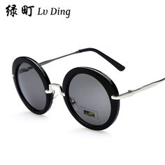 bd320dd5b0 2014 Vintage retro Round Sunglasses Men Women Brand Designer Gafas Sun Glasses  Goggles oculos de sol feminino B0086-in Sunglasses from Women s Clothing ...