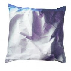 How fab are these crinkled paper linen cushions - also available in yellow!