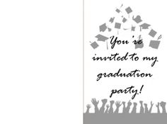 These flying caps printable graduation invitations are perfect for your graduates' party! Set the tone and get the party started with our printable cards in several colors and designs. You can customize it to include date, venue and time. Simply download, personalize and print!