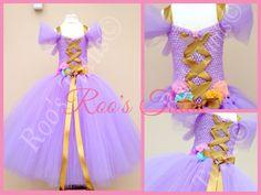 Rapunzel inspired dress deluxe, tutu dress costume (Handmade) princess dress up | eBay