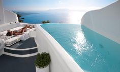 Cliffside villa in Santorini
