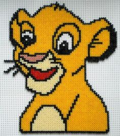 Simba - The Lion King hama beads by perleshamadu15