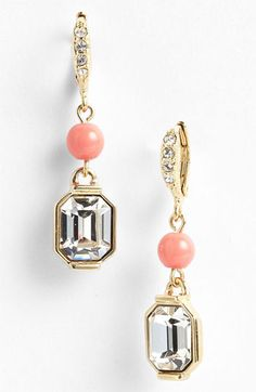 Givenchy Lark Crystal & Bead Double Drop Earrings available at #Nordstrom