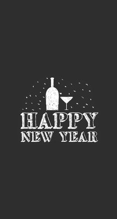 Happy New Year Drinks Minimal iPhone 6 Plus HD Wallpaper
