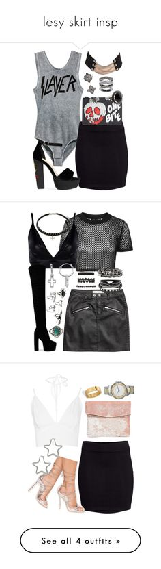 """""""lesy skirt insp"""" by bekahtee ❤ liked on Polyvore featuring H&M, Danielle Nicole, Forever 21, Simply Vera, Accessorize, Topshop, Boohoo, Itsy Bitsy, Vintage America and Charlotte Russe"""