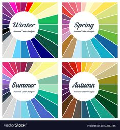 Set of palettes for different types of female appearanc… Seasonal color analysis. Colour Combinations Fashion, Color Combinations For Clothes, Color Combos, Fall Color Palette, Colour Pallette, Summer Color Palettes, Soft Summer Palette, Deep Winter Colors, Summer Colors