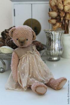 Мишка - бежевый,мишка,медведь,платье,тедди,вискоза,опилки,хлопок