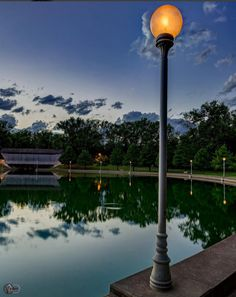 Mill Race Park pond at dusk Columbus Indiana, My Town, Great Shots, Cool Eyes, Cn Tower, Dusk, Wind Turbine, Pond, Racing