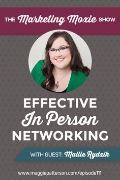NETWORKING || Finding your niche for in person events is as important as finding your niche online; if you just go to any entrepreneur event, it might not be the type of people you would work with. On this episode of The Marketing Moxie Podcast Mallie Rydzik from the Systems Scientist shares her top tips to networking.