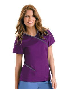 cute scrubs for work Urbane Contrast wrap around in black and neon pink Vet Scrubs, Medical Scrubs, Nursing Scrubs, Dental Scrubs, Nursing Tips, Healthcare Uniforms, Medical Uniforms, Work Uniforms, Scrubs Outfit