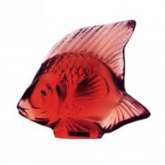 Lalique  Fish Red Crystal Model number: 3003100