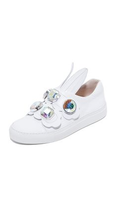 Minna Parikka Crystal Bunny Sneakers In БЕЛЫЙ Keds, Eccentric, Crystals, My Favorite Things, Sandals, Sneakers, Bunny, Fashion Trends, Shoes