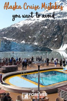 Alaska Cruise Mistakes You Want To Avoid - Forever Karen - Booked on an Alaska cruise? Avoid these Alaska cruise mistakes like not have enough warm clothes, not having enough rain gear, not prepared for motion sickness and more. Source by - Packing For Alaska, Alaska Cruise Tips, Packing List For Cruise, Alaska Travel, Cruise Travel, Cruise Vacation, Alaska Trip, Carnival Cruise Alaska, Vacation Ideas