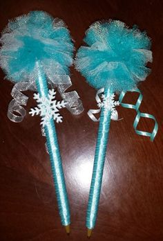 #Frozen wand pens - these would be really cute at a themed party - A Little Craft in Your Day