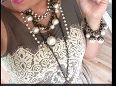 Bodacious Pearls, vintage, retro, Plunder Design, pearls. ( women  jewelry  accessories  vintage  pendants )  https://www.facebook.com/groups/HeathersPlunderDesign/