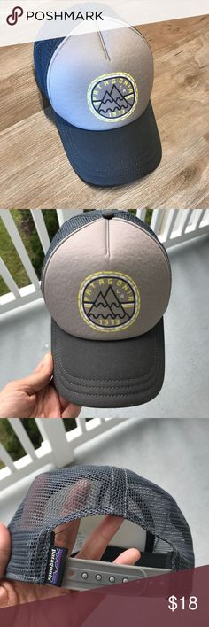 Patagonia Womens Trucker Hat Womens Patagonia Trucker Hat in Gray with yellow accent Worn twice Purchased August of 2017 Feel free to ask questions 😀 Patagonia Accessories Hats
