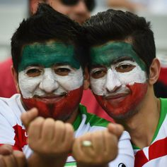 JUNE 16: Iran fans show support prior to the 2014 FIFA World Cup Brazil Group F match between Iran and Nigeria at Arena da Baixada on June 16, 2014 in Curitiba, Brazil.