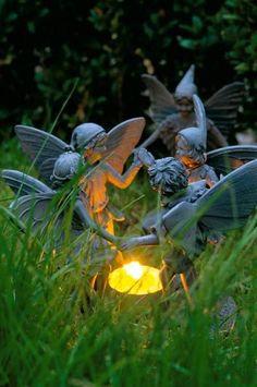 Shhhh, don't disturb the garden fairies.