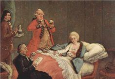 """""""Early Morning Chocolate""""  - Pietro Longhi, Ca'Rezzonico, Museo del Settecento, Venice"""