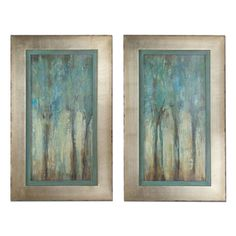 Uttermost Decor fixture Model 41410 Uttermost Whispering Wind Framed Art - Transitional from the Wood & Natural finishes group in Mdf, Wood. Wall Art category from the Whispering Wind family. Blue Framed Art, Framed Art Sets, Wall Art Sets, Framed Wall Art, Oil Painting Abstract, Abstract Wall Art, Painting Frames, Painting Prints, Wall Art Prints