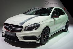 Mercedes-Benz A 45 AMG Edition 1 (W176) Fuel consumption combined: 7,1-3,6 l/100 km,  CO2-emissions combined: 165-92 (g/km) #mbhess #mbcars #mbaclass