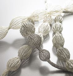 Necklaces, conceptual jewelry made by Sowon Joo (Korea).