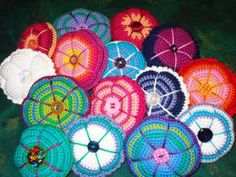 Crocheted Pin Cushion all