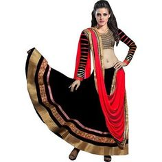 Hot Selling New Priyanka Chopra Red & Black Color Bollywood Lehenga Lehenga Gown, Lengha Choli, Lehenga Choli Online, Anarkali Suits, Bollywood Lehenga, Wedding Sari, Casual Saree, New Fashion Trends, Printed Sarees