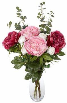 Peony bunch of artificial flowers