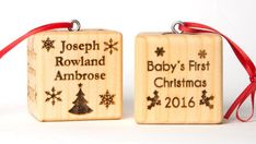 First Christmas Wooden Ornaments