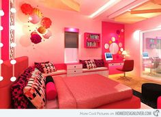 Girls+in+Beautiful+Dream+Room | 20 Pretty Girls' Bedroom Designs | Home Design Lover