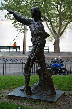 Simon Kenton Historical Sites   Simon Kenton statue.