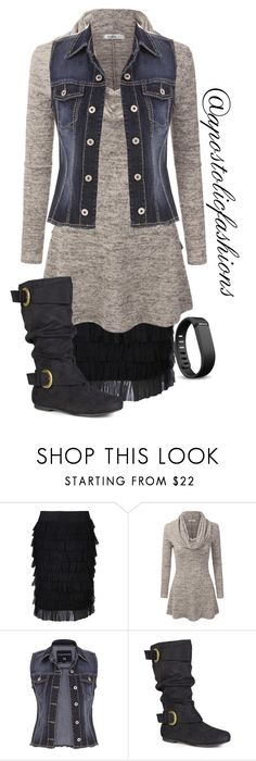 """""""Apostolic Fashions #1673"""" by apostolicfashions ❤ liked on Polyvore featuring Rochas, Doublju, maurices, Journee Collection and Fitbit"""