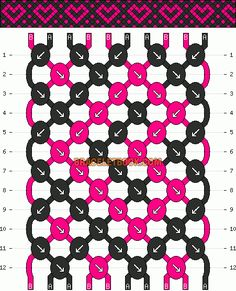 Normal Friendship Bracelet Pattern #10415 - BraceletBook.com